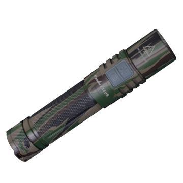 Fenix E35 UE迷彩版高亮度1000流明防水便携LED灯手电筒(标配自带USB充电电池2600毫安)