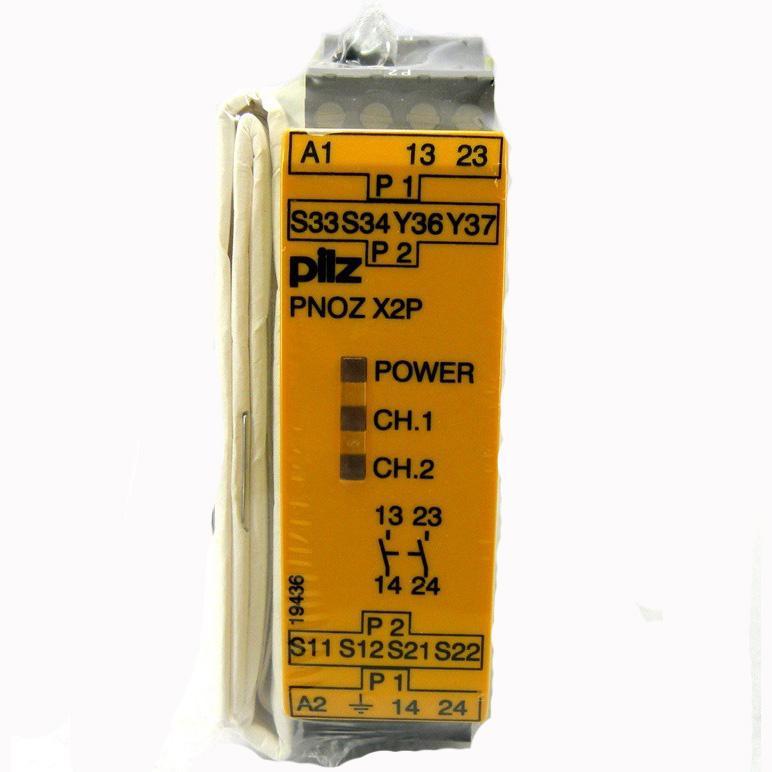 皮尔兹Pilz 安全继电器,PNOZ X2P 24VACDC 2n/o 777303