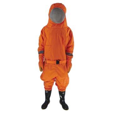 防蜂服连体式 配有头盔手套和靴子 M号 带风扇