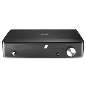 华硕(ASUS) 8倍速 外置DVD刻录机 支持M-DISC 移动光驱 黑色(兼容苹果系统/SDRW-S1 LITE) 7.1声卡