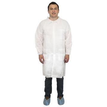 无纺布实验服,白色,L,50件/箱