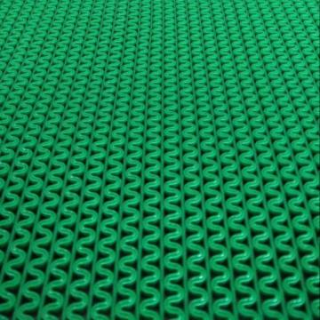 疏水防滑地垫卷材PVC 绿色 1.2m*15m*5mm X030201039