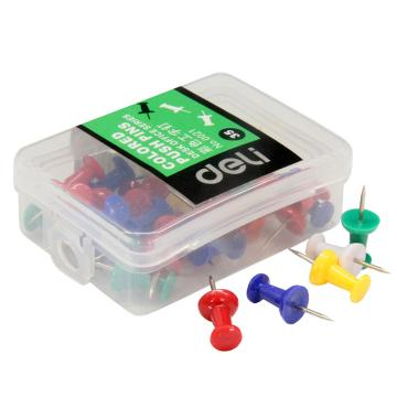 得力 彩色工字釘35枚/盒0021 單位:盒