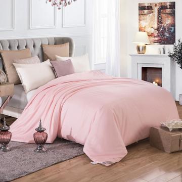 太湖雪 被芯家纺,100%桑蚕丝被 优质长丝 纯棉斜纹面料  粉色 蚕丝净重450g 150*215cm