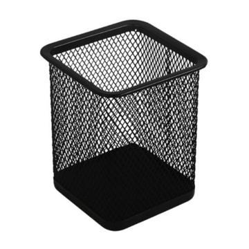 得力 筆筒, 方形網狀 9174(黑) 單個