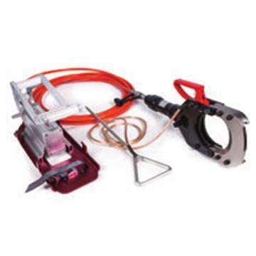 贝特手动脚踏带电电缆防护安全切刀,最大切割Φ132mm带铠装的铜/铝电缆,出力10T(HICT-132-35KV)