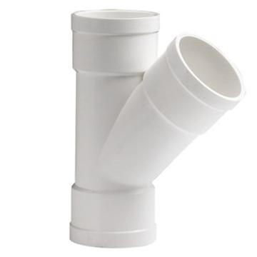 万鑫军联/WXJL 国标U-PVC排水管件 斜三通,50*50mm