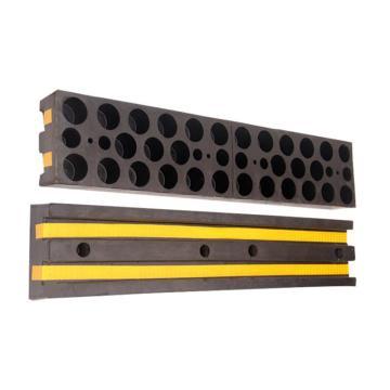 橡胶反光墙面防撞条,W190×T90×L1000MM 黑黄相间