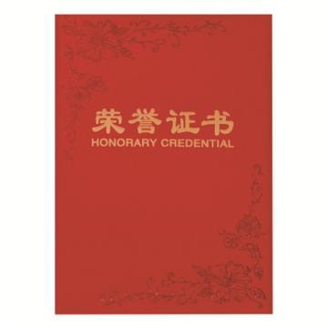 齐心 荣誉证书,C4594 纸面 B5 红 单本