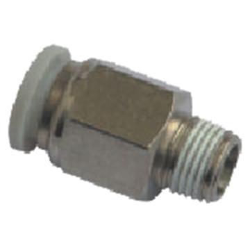 亚德客APC螺纹直通,螺纹R1/8,接管外径8mm,APC8-01