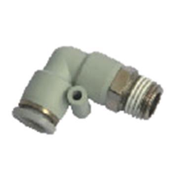 亞德客AirTAC L型螺紋二通,螺紋R1/8,接管外徑4mm,APL4-01