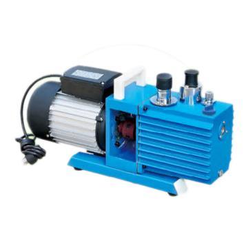 真空泵,直联旋片式,2XZ-0.5,单相,抽气速度:0.5L/S,外形尺寸:447x168x260mm