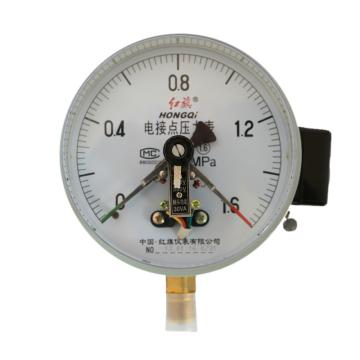 电接点压力表YX-100压力表(表盘直径无要求,其他要求:量程-0.1~0Mpa,接口尺寸4分,垂直安装,空气,常温,铁壳