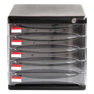 得力 五层文件柜,黑色9795 单位:只