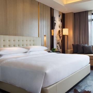 酒店全棉贡缎四件套,1.2M纯白色
