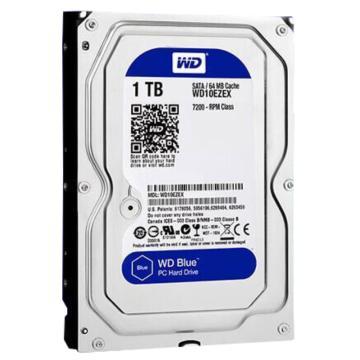 西部数据 硬盘, WD10EZEX 1TB 7200转 64MB SATA3 单位:个