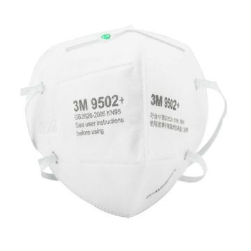 3M 防尘口罩,9502+,KN95 头带式,双片装 50只/盒