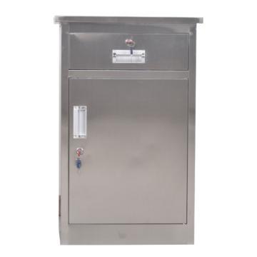 201不銹鋼床頭柜,480寬*400深*715高,灰白色,鋼板厚度為0.7mm