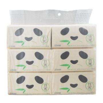 心相印 竹π ZDT1130(6包装) 130抽三层塑装纸面巾 6包x12提/箱 单位:提