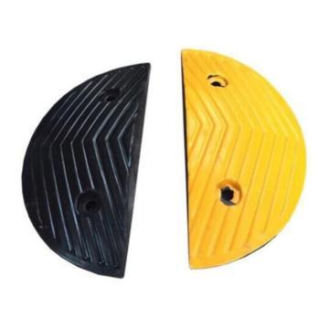 橡胶人字形减速带端头,170×300×30mm(含配件)