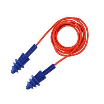 代爾塔DELTAPLUS 可重復使用耳塞,103113,CONICFIT010 圣誕樹型硅膠材質 帶線 盒裝,10副/包