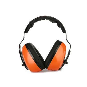 代爾塔DELTAPLUS 頭戴式耳罩,103006,SEPANG2 F1雪邦經濟型 橙色