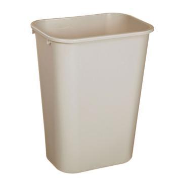 乐柏美大型垃圾桶,米色,39L(不含盖,盖子需配MAW039)
