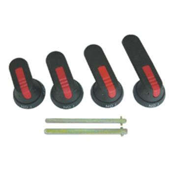 中意 CIWZ MNS低压抽屉柜手柄,B2型 8*8mm 圆环外径40mm 手柄长度52mm 红黑色