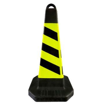 塑料方锥,黄黑色,690mm×280×280mm