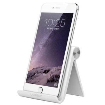 绿联 手机平板支架, 桌面可调节角度懒人支架 白色和粉色新增内槽防滑白色 单位:个