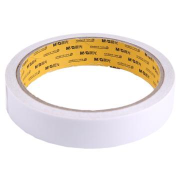 晨光 M&G棉纸双面胶带,AJD97350 18mm*10y 1卷/袋 单位:袋