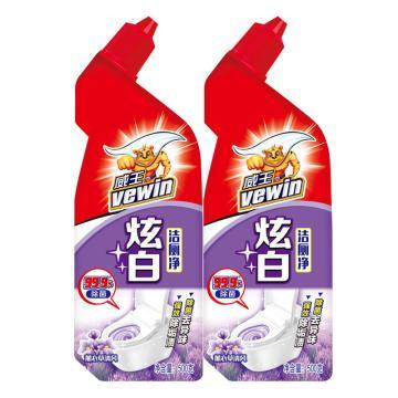 立白 威王炫白潔廁凈,500g(1+1) 15組/箱 單位:組