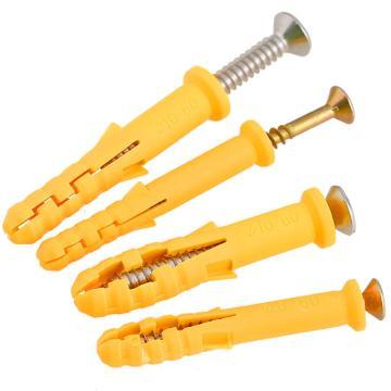 黄色塑料膨胀管+十字槽螺钉6X40