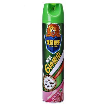 立白 超威殺蟲氣霧劑,玫瑰花香 600ml,12瓶/箱 單位:瓶