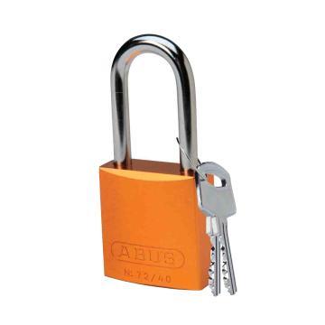 """贝迪BRADY 铝锁,1.5""""/3.8cm锁钩,锁芯互异,橙色,99619"""