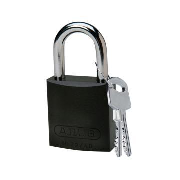 """贝迪BRADY 铝锁,1""""/2.5cm锁钩,锁芯互异,黑色,99613"""