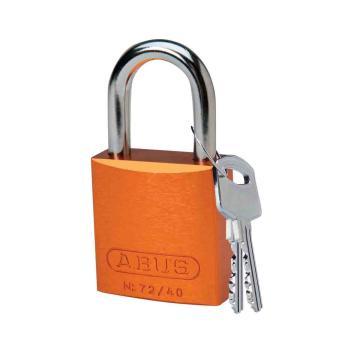"""BRADY铝锁,1"""",2.5cm,锁钩,锁芯互异,橙色,99612"""