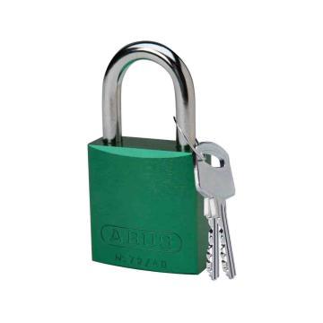 """贝迪BRADY 铝锁,1""""/2.5cm锁钩,锁芯互异,绿色,99610"""