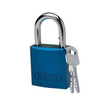 """贝迪BRADY 铝锁,1""""/2.5cm锁钩,锁芯互异,蓝色,99609"""