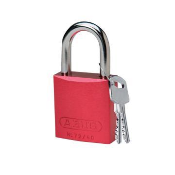 "BRADY铝锁,1"",2.5cm,锁钩,锁芯互异,红色,72/40"