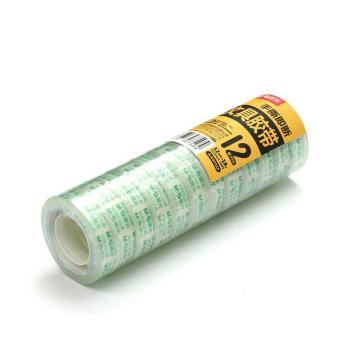晨光 M&G 透明胶带,AJD97319 12mm*18y 12卷/筒 单位:筒