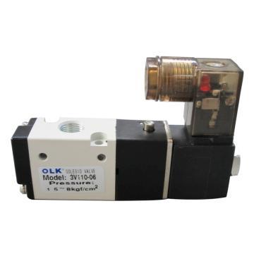 歐雷凱OLK 電磁閥,2位3通,常閉型,3V110-06-AC220V-NC
