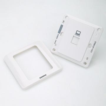 西门子SIEMENS 远景系列一位八芯电脑插座RJ45(六类,非屏蔽),5TG01271CC1 雅白
