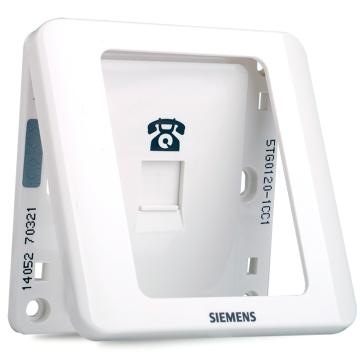 西门子SIEMENS 远景系列一位电话插座RJ11,5TG01201CC1 雅白