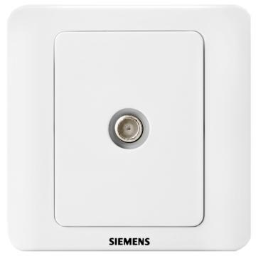 西门子SIEMENS 远景系列一位宽频电视插座(5-1000MHz),5TG01151CC1 雅白
