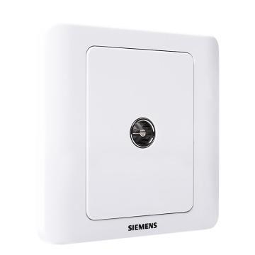 西门子SIEMENS 远景系列一位电视插座(5-850MHz),5TG01111CC1 雅白
