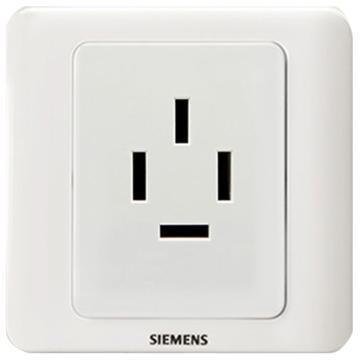 西门子SIEMENS 远景系列一位16A三相四线插座,5UB07001CC1 雅白