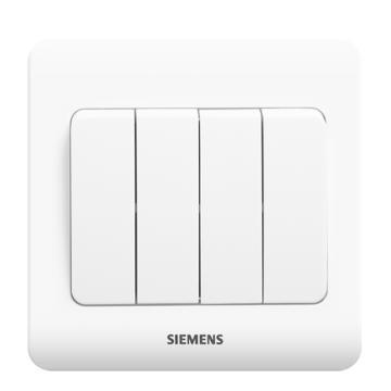 西门子SIEMENS 远景系列四位双控大跷板开关,5TA02461CC1 雅白