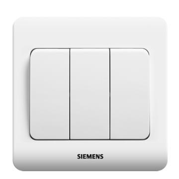 西门子SIEMENS 远景系列三位双控大跷板开关,5TA02361CC1 雅白