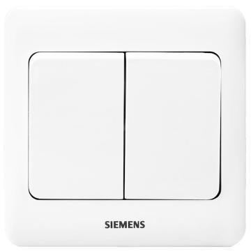 西門子SIEMENS 遠景系列二位雙控大蹺板開關,5TA02161CC1 雅白